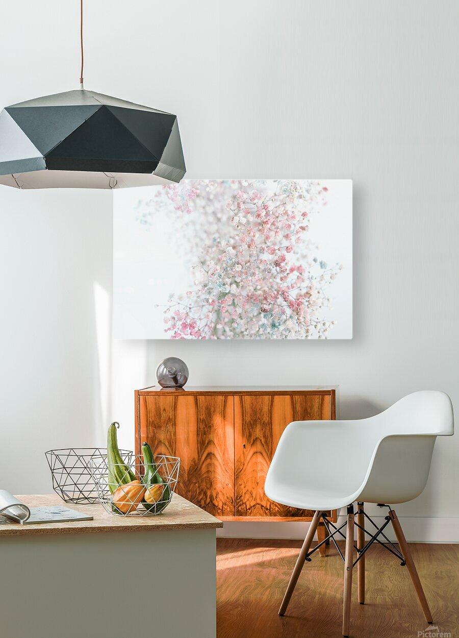 Daltana Pastel Floral Ceiala  HD Metal print with Floating Frame on Back