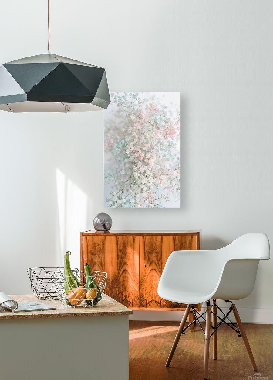 Daltana Pastel Floral Aera  HD Metal print with Floating Frame on Back