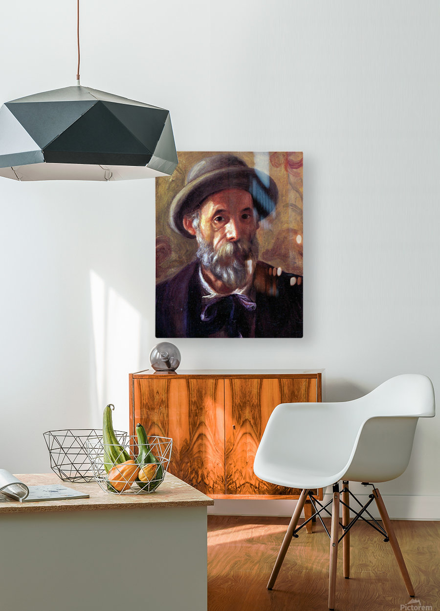 Self Portrait 1 by Renoir  HD Metal print with Floating Frame on Back