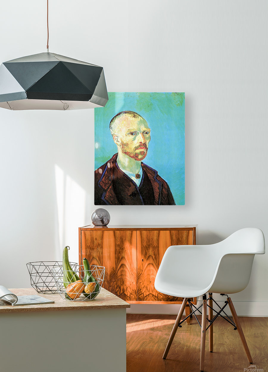 Self-Portrait Dedicated to Paul Gauguin  HD Metal print with Floating Frame on Back
