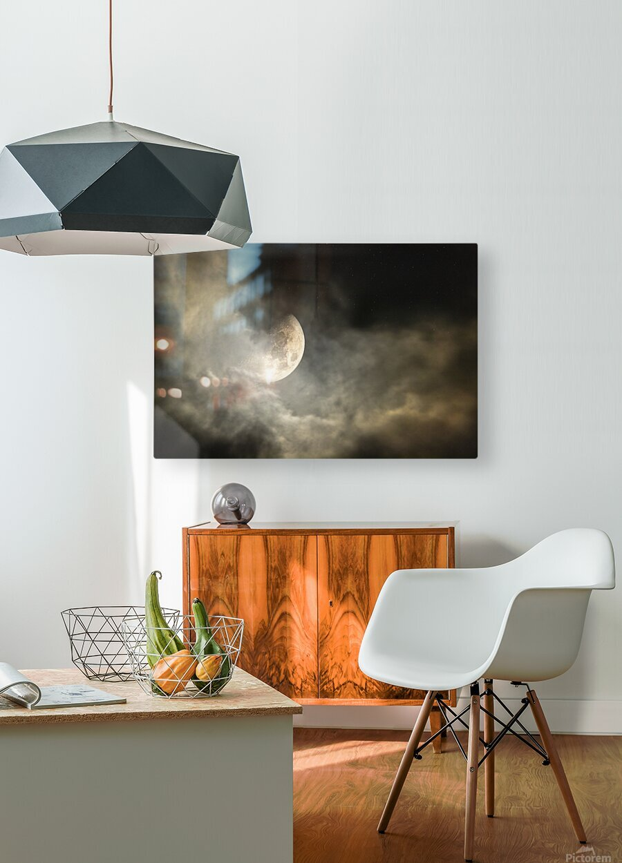 Goodnight Moon   HD Metal print with Floating Frame on Back