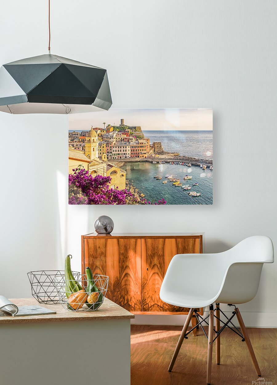 Vernazza  HD Metal print with Floating Frame on Back