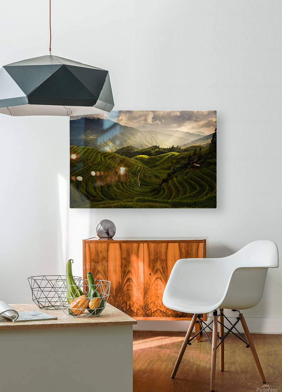 A Tuscan Feel in China  HD Metal print with Floating Frame on Back