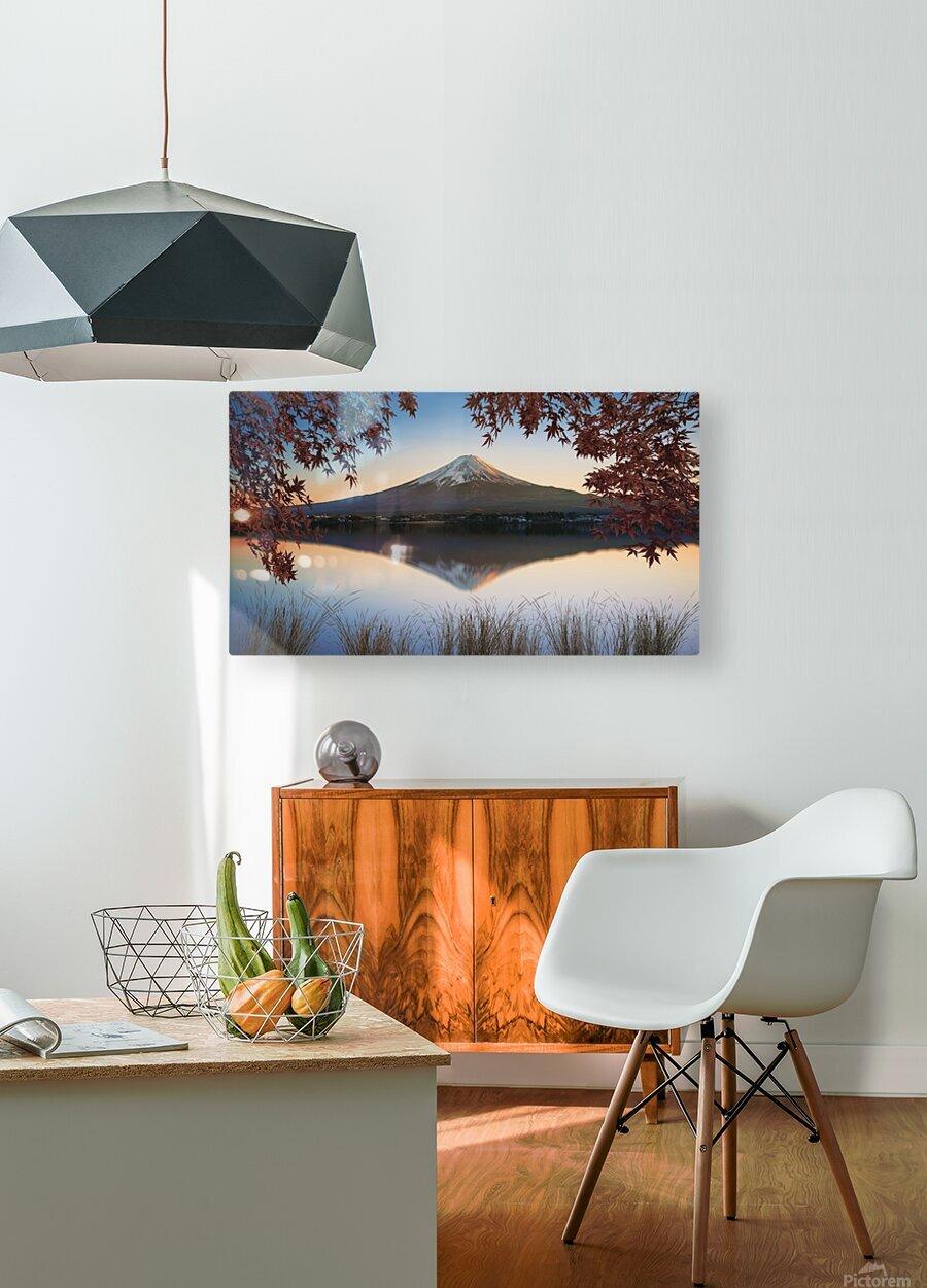 Mount Fuji  HD Metal print with Floating Frame on Back