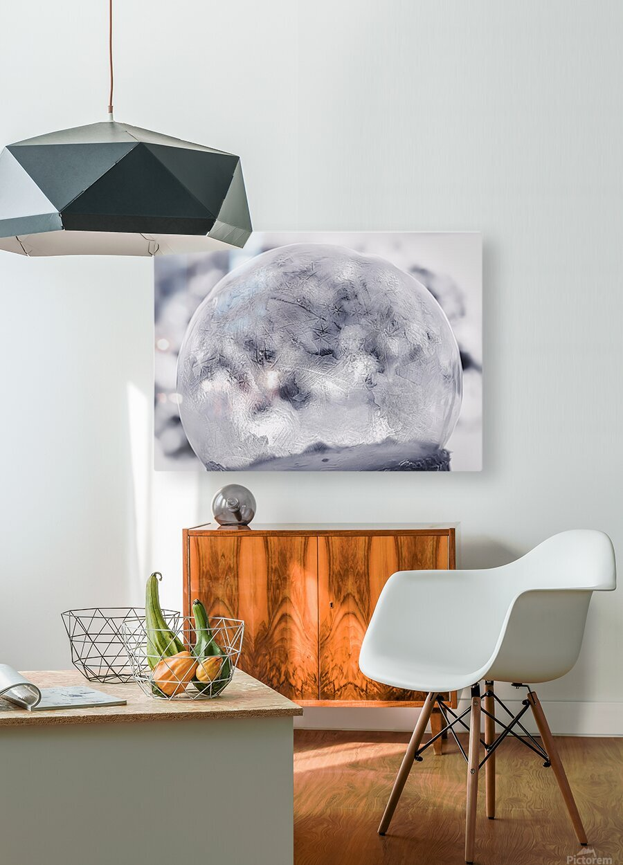 Givre  HD Metal print with Floating Frame on Back
