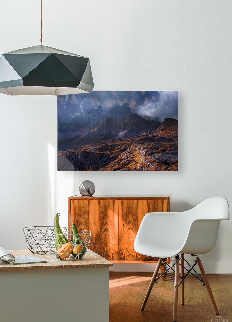 Bergwetter  HD Metal print with Floating Frame on Back