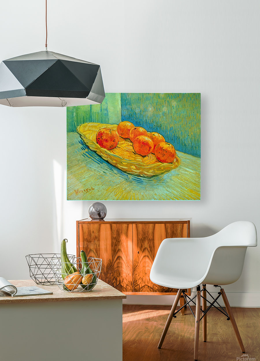 Six Oranges by Van Gogh  HD Metal print with Floating Frame on Back