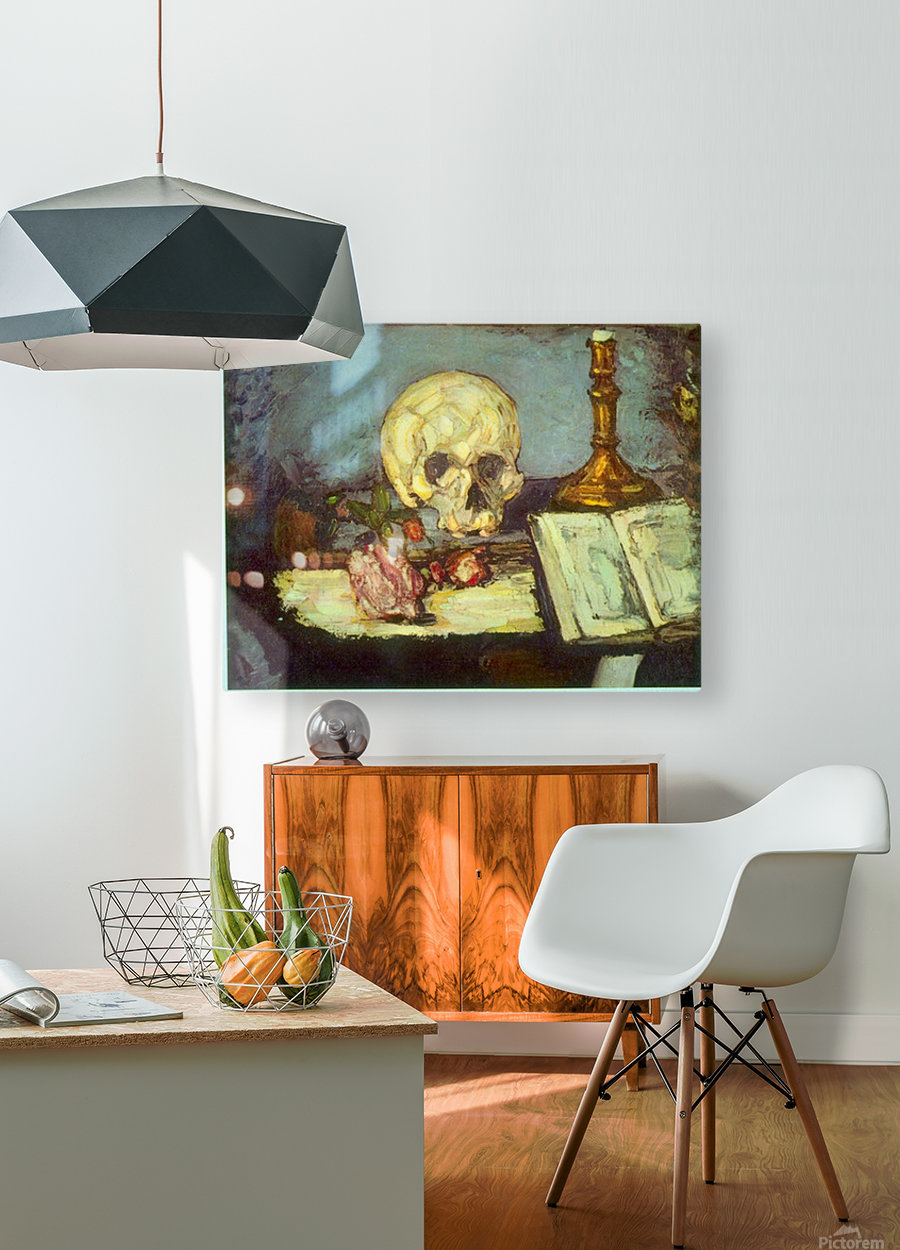 Skull by Degas  HD Metal print with Floating Frame on Back
