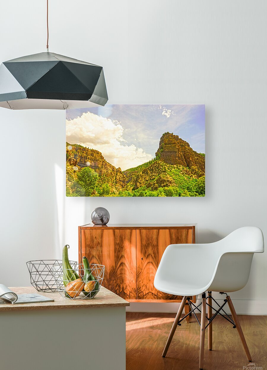 Golden Colorado  HD Metal print with Floating Frame on Back