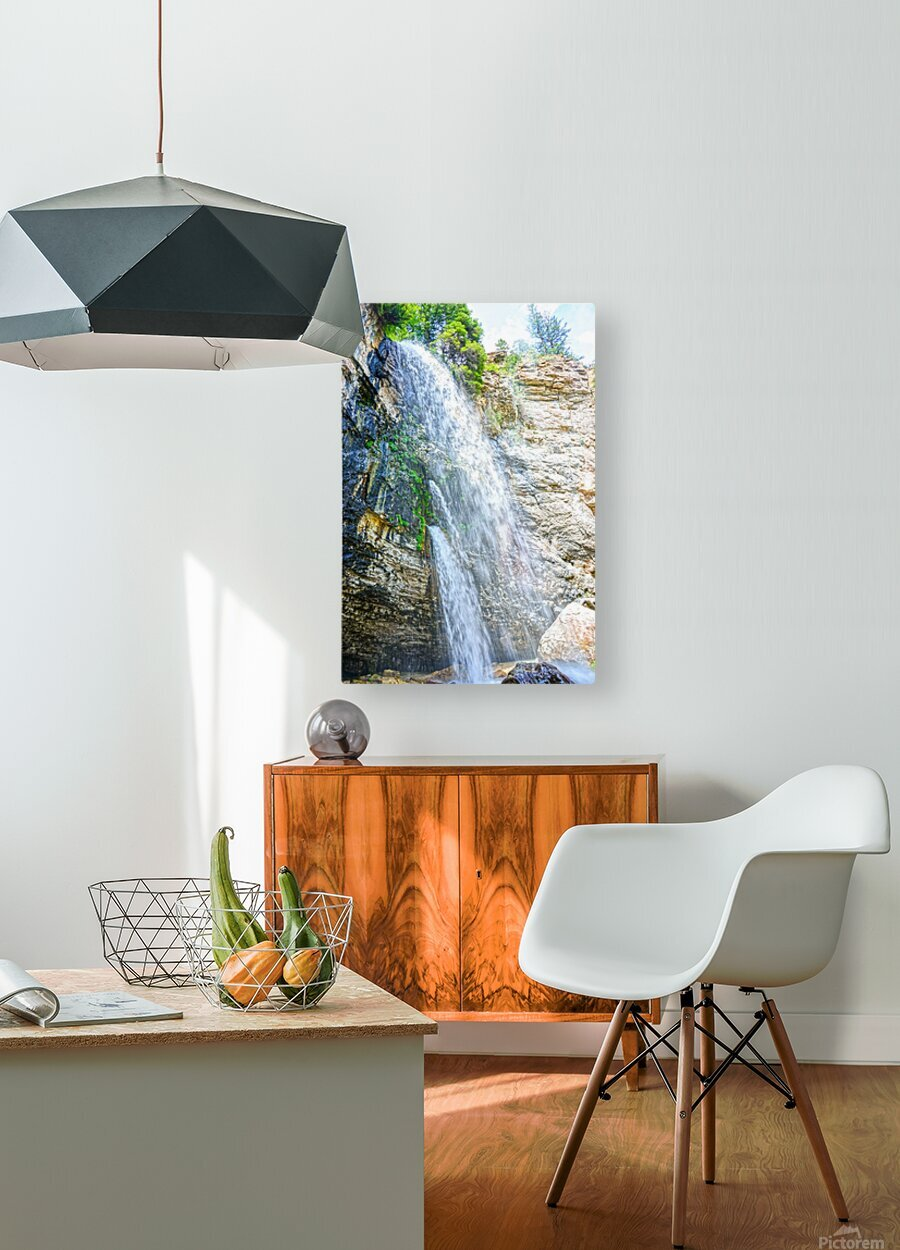 Rocky Mountain Rapids and Waterfalls 5 of 8  HD Metal print with Floating Frame on Back
