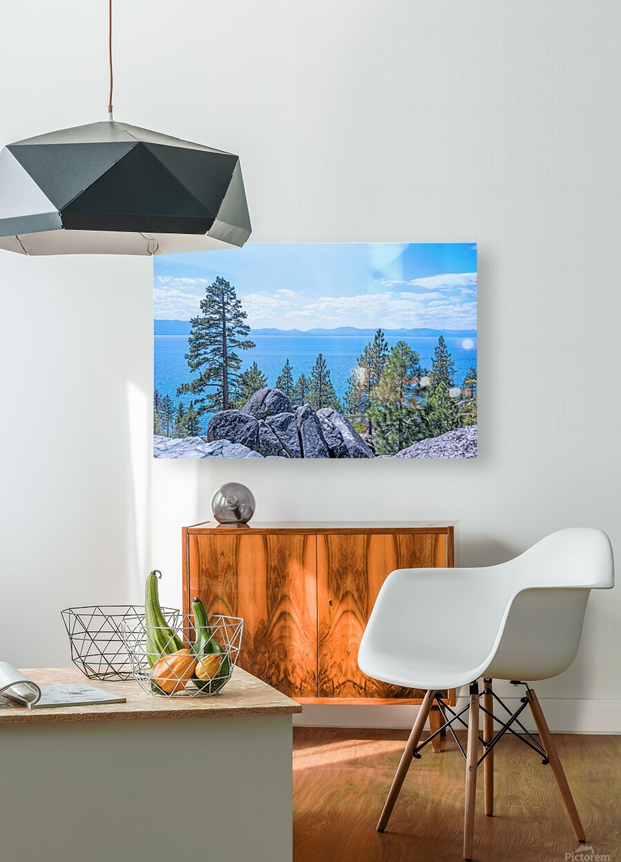 To the Horizon  HD Metal print with Floating Frame on Back