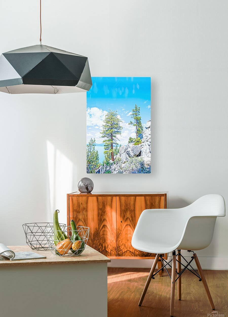 Top of the Mountain California   HD Metal print with Floating Frame on Back