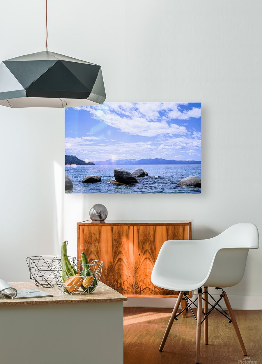 Perfect Day at the Lake - California  HD Metal print with Floating Frame on Back