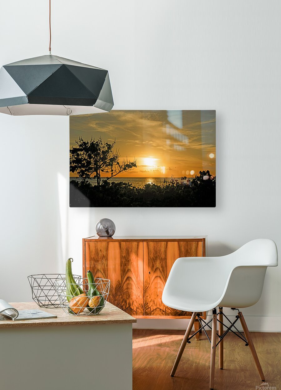 Delicate - Sunset Hawaiian Islands  HD Metal print with Floating Frame on Back