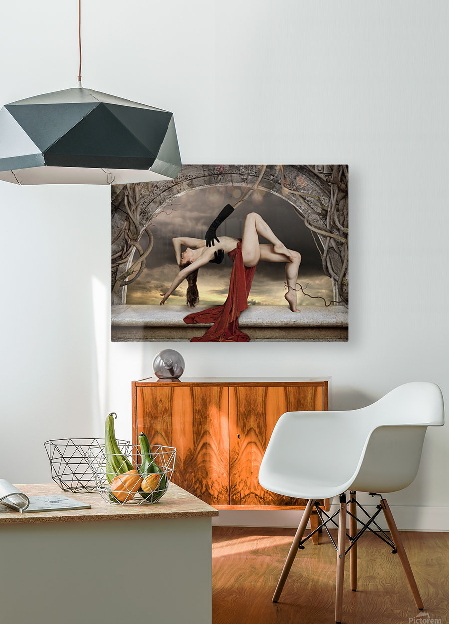 Mendacium  HD Metal print with Floating Frame on Back