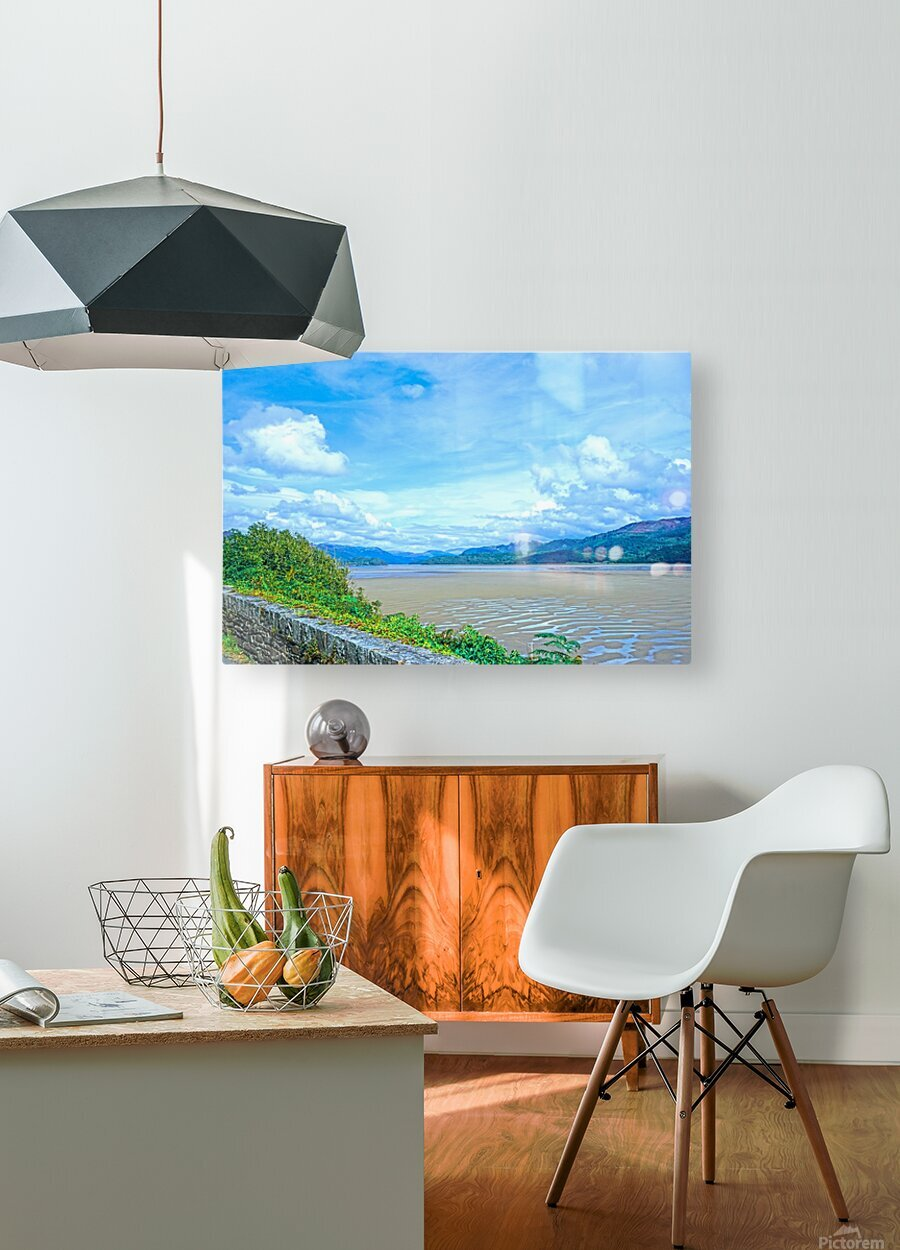 View to Forever Coastal England  HD Metal print with Floating Frame on Back