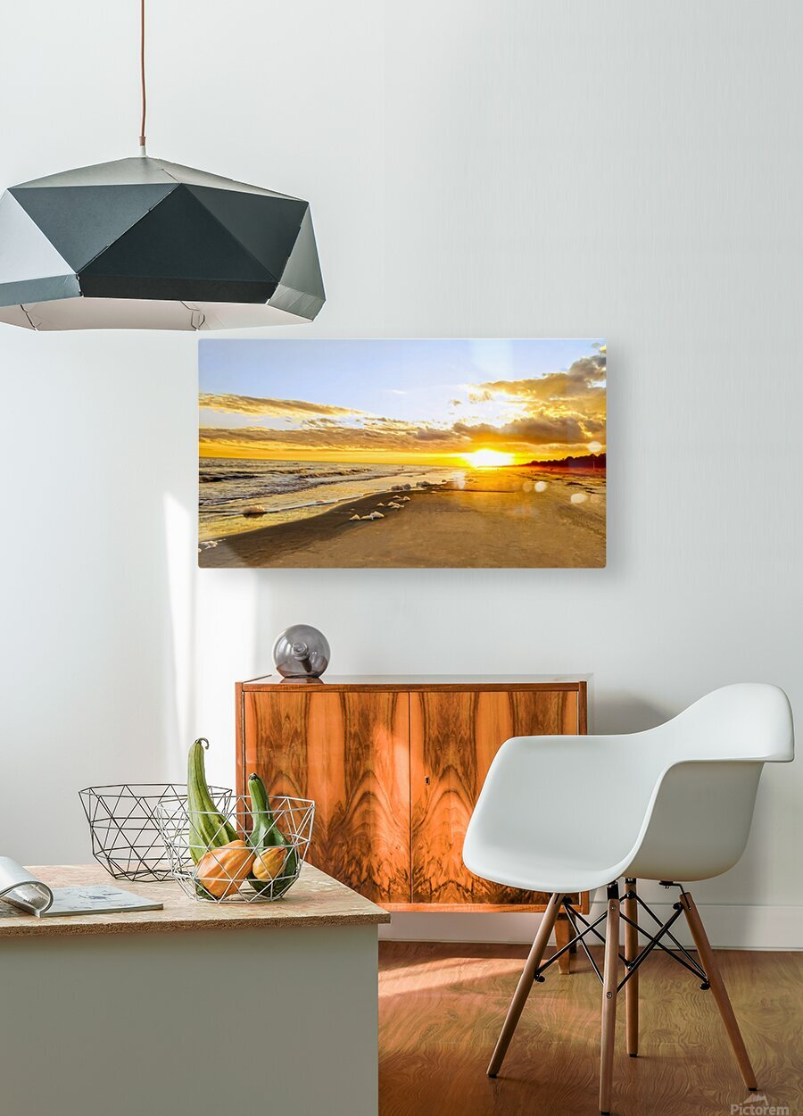 The Summer Sun Sets in the Carolinas  HD Metal print with Floating Frame on Back
