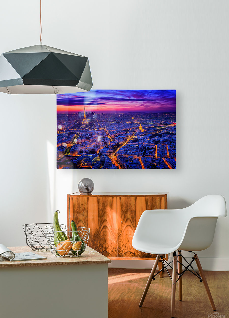 Paris I  HD Metal print with Floating Frame on Back