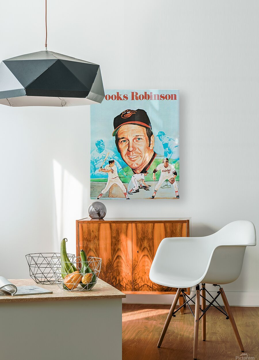1974 Brooks Robinson Poster  HD Metal print with Floating Frame on Back