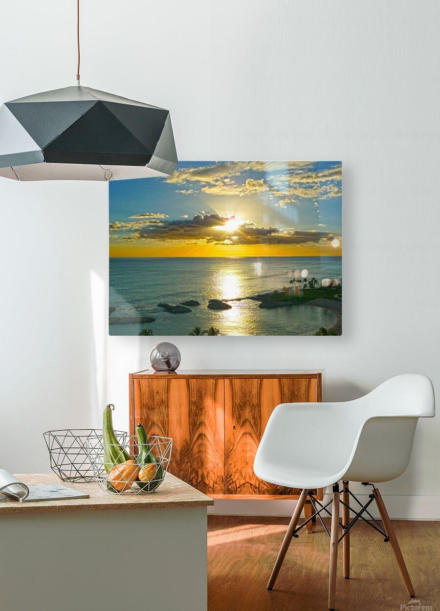 Island Dreamin - Hawaii Sunset  HD Metal print with Floating Frame on Back