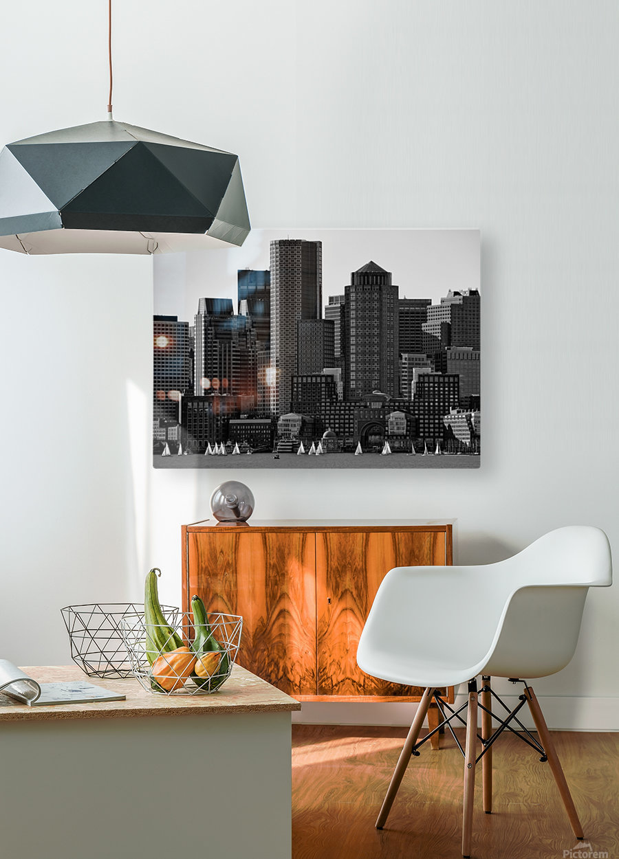 Towers  HD Metal print with Floating Frame on Back