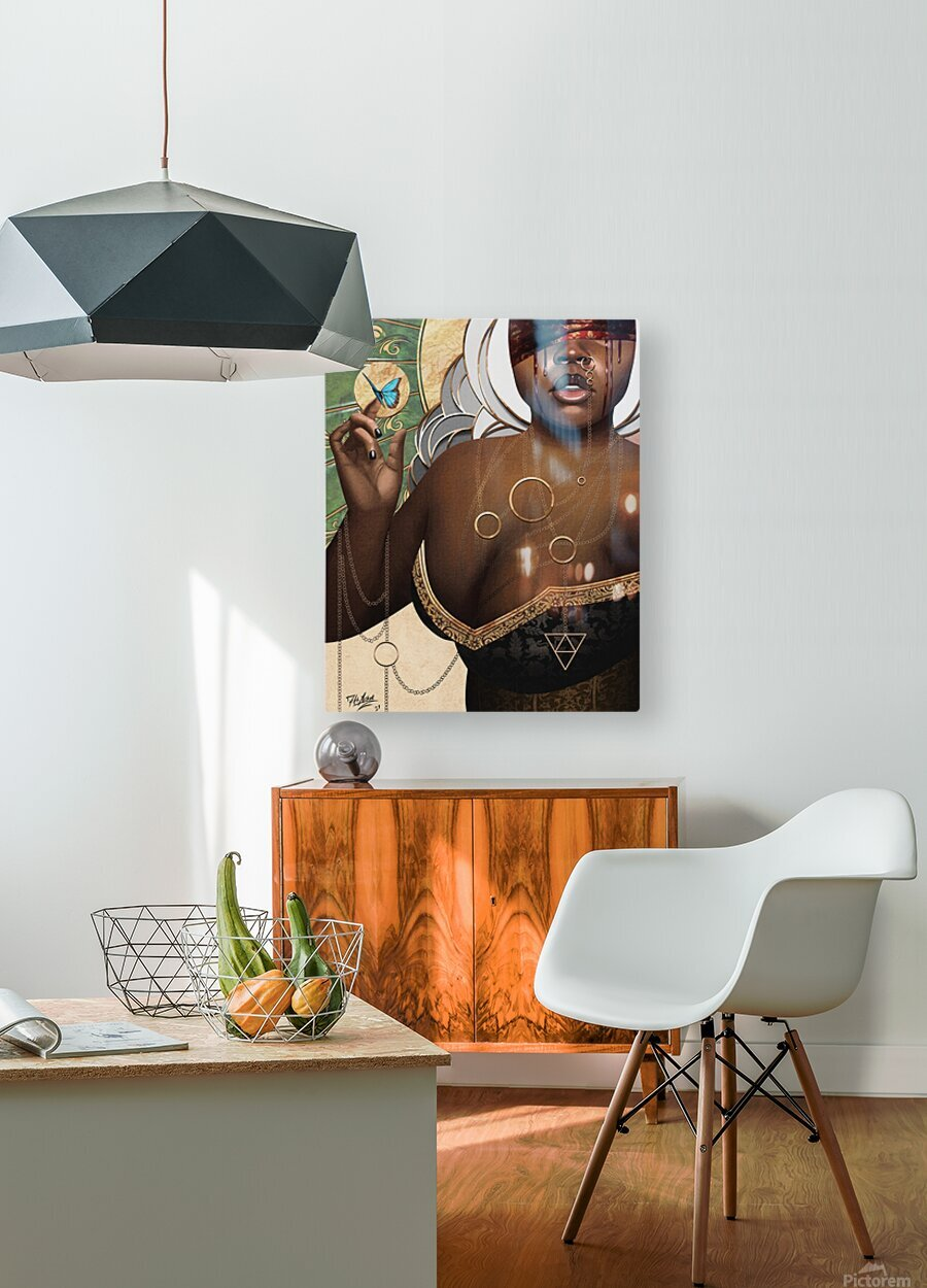 She Who Laments  HD Metal print with Floating Frame on Back