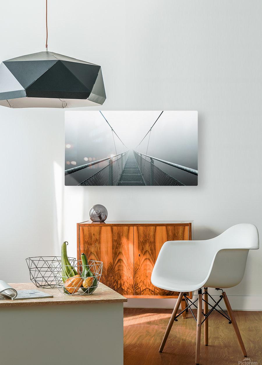 The Path to Infinity  Impression métal HD avec cadre flottant sur le dos