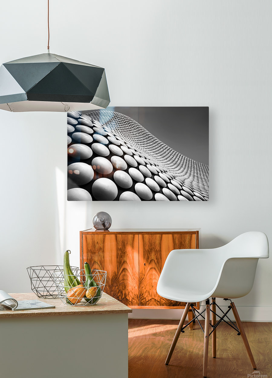 Curve  HD Metal print with Floating Frame on Back