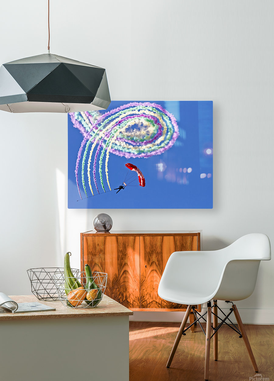 Spiro  HD Metal print with Floating Frame on Back