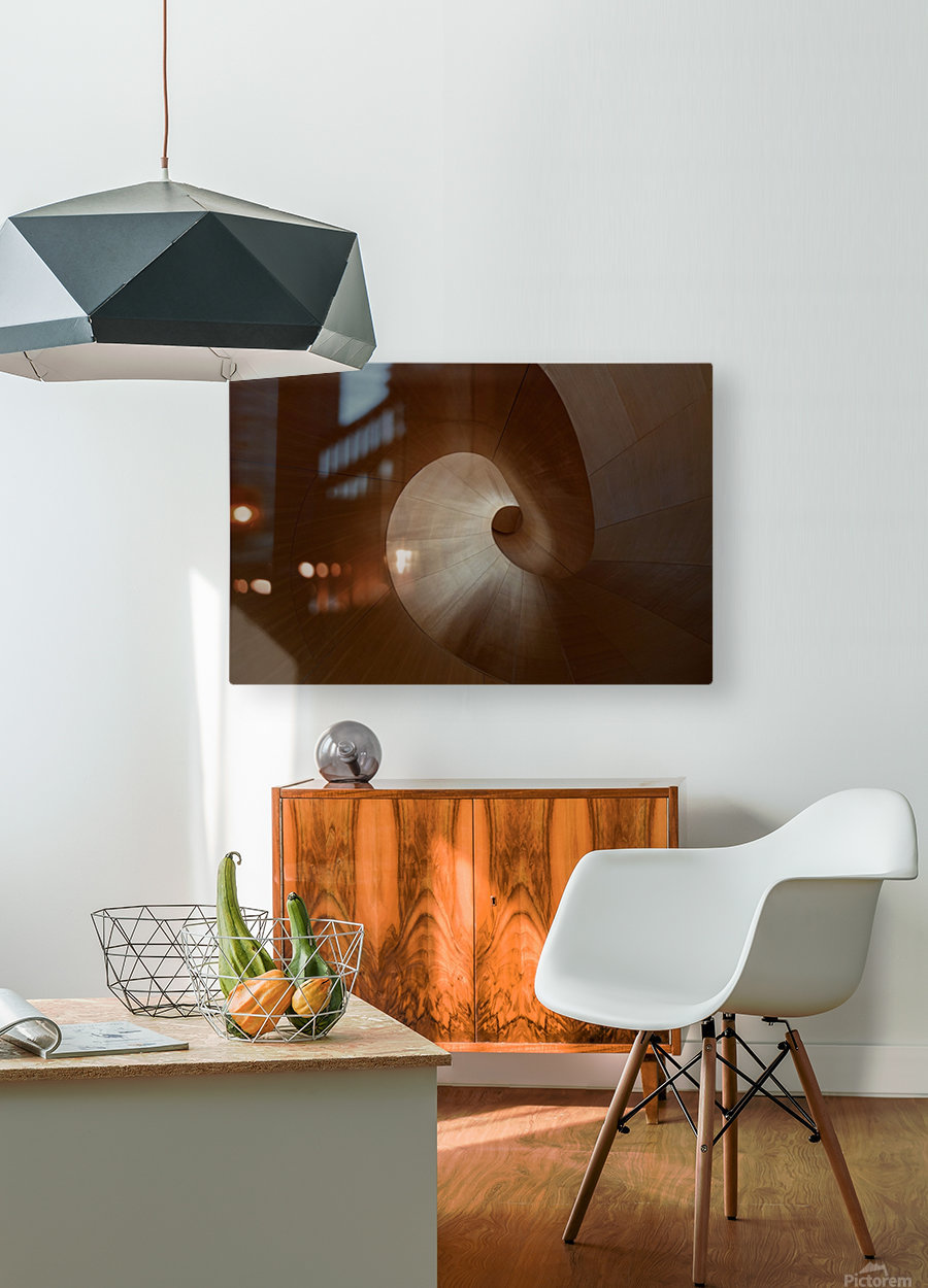Spiral by Heather Bonadio   Impression métal HD avec cadre flottant sur le dos