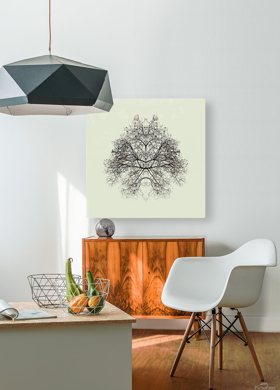 Rorschach Test by Nadav Jonas   HD Metal print with Floating Frame on Back