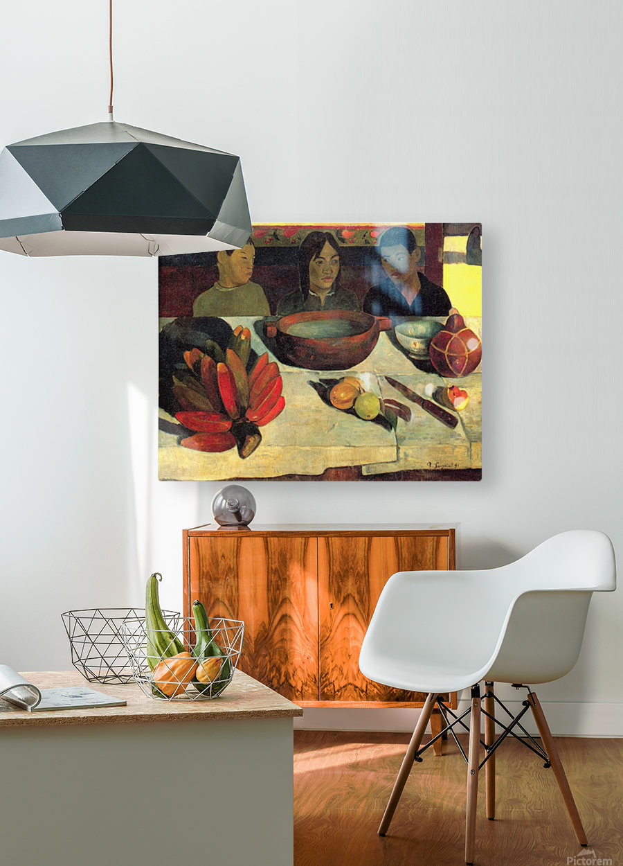 Still Life with Banana by Gauguin  HD Metal print with Floating Frame on Back