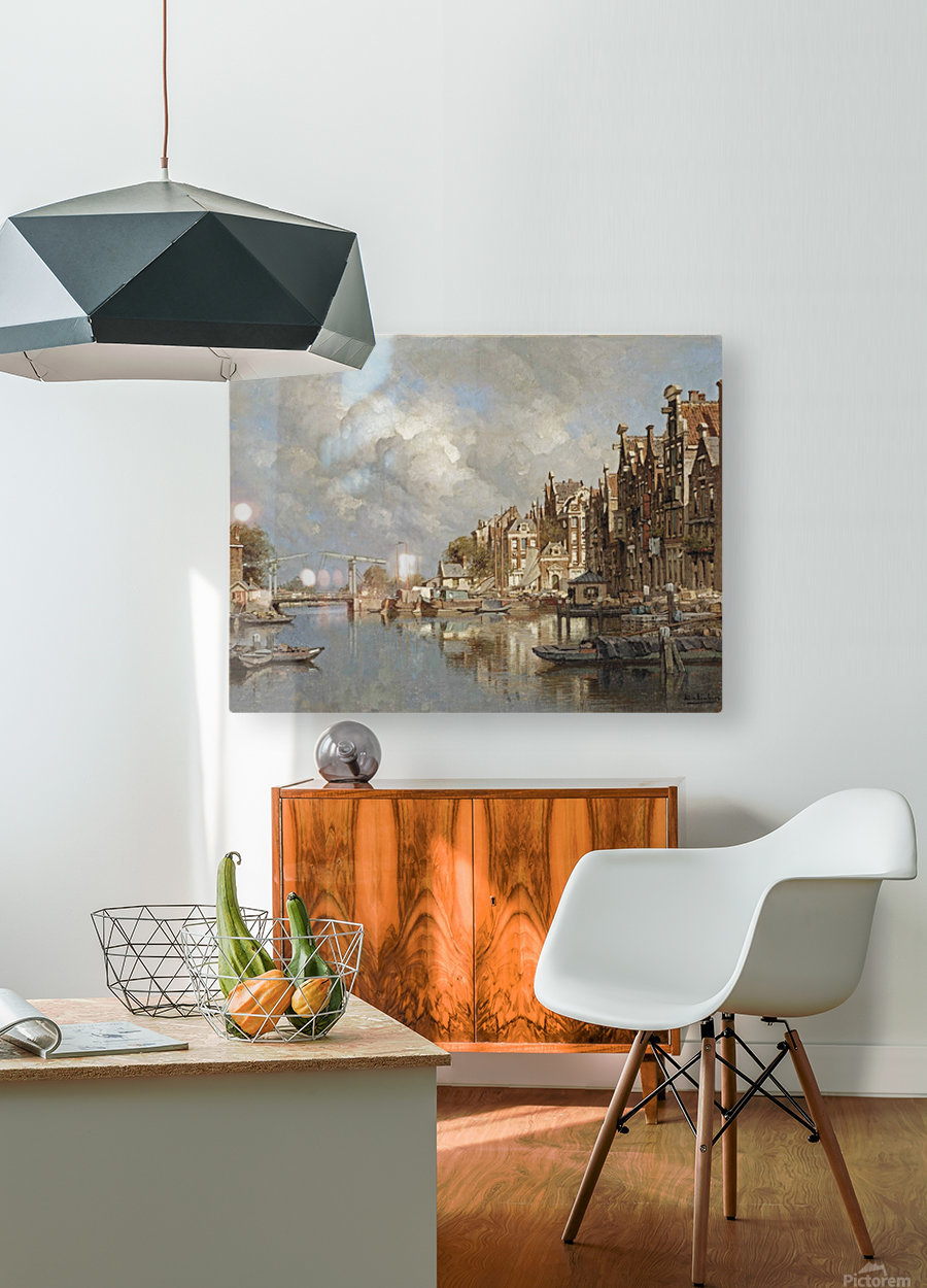 The Haagse Veer, Rotterdam  HD Metal print with Floating Frame on Back