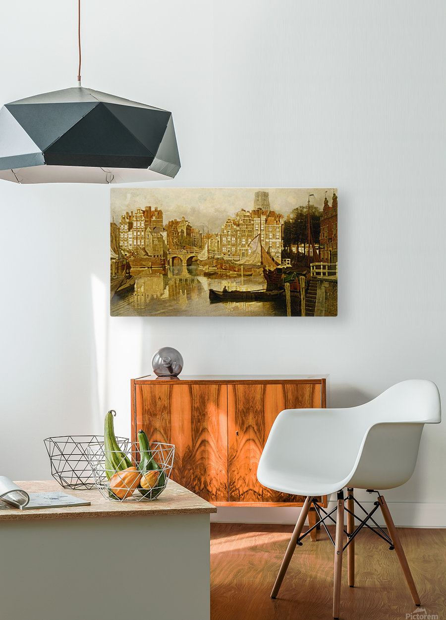 A view of the Blaak Rotterdam  HD Metal print with Floating Frame on Back