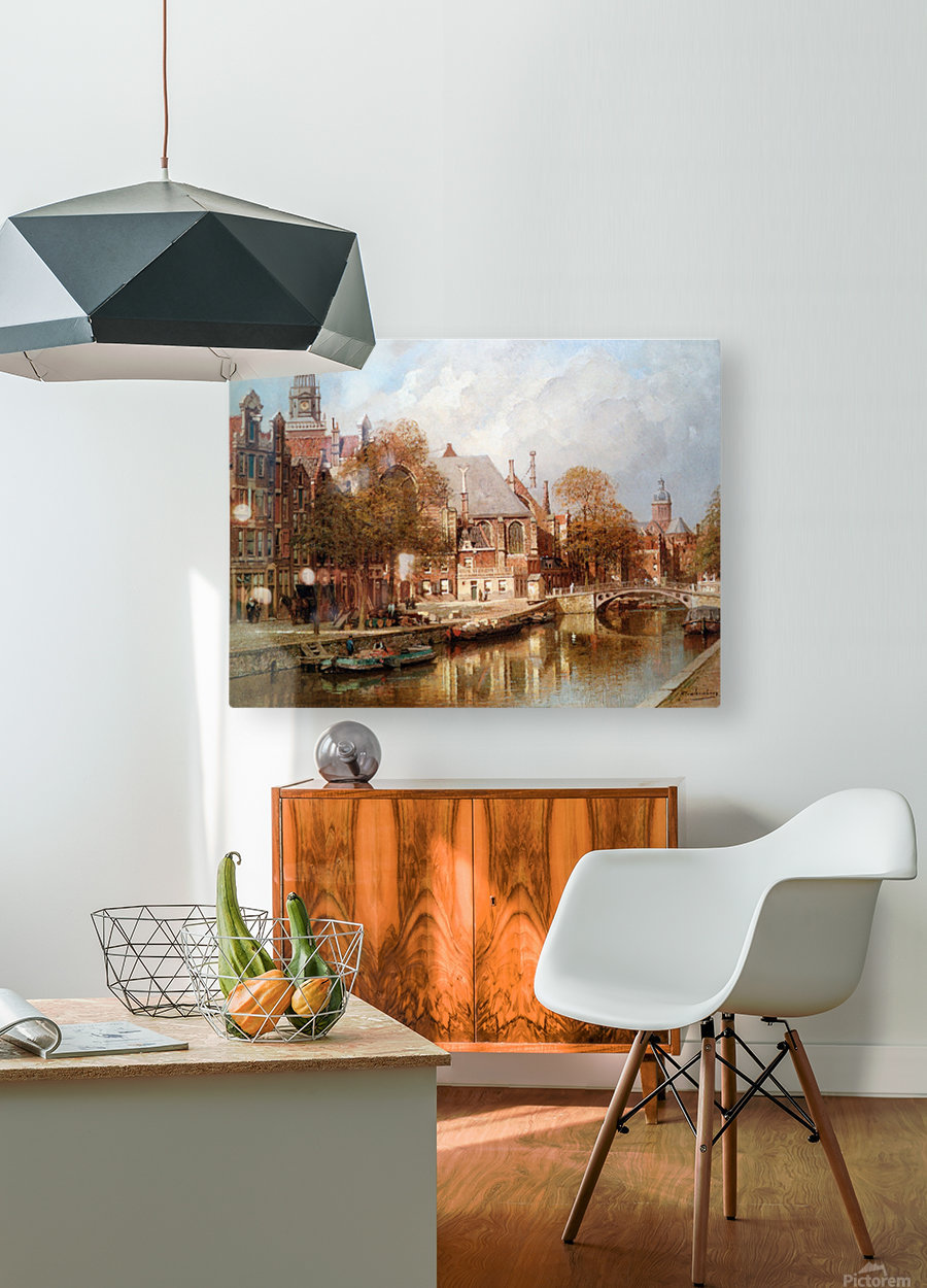 The Oude Kerk and Saint Nicolaaskerk  HD Metal print with Floating Frame on Back