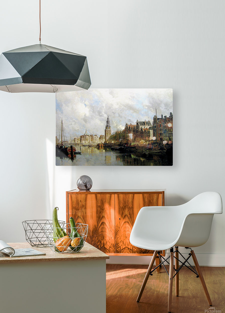 Montelbaanstoren, Amsterdam  HD Metal print with Floating Frame on Back
