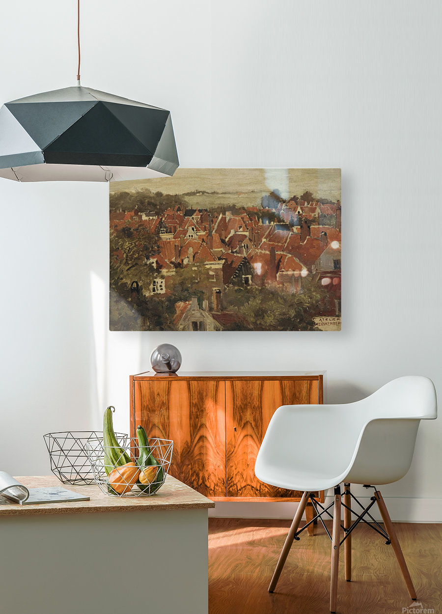 A view of a Dutch town  HD Metal print with Floating Frame on Back
