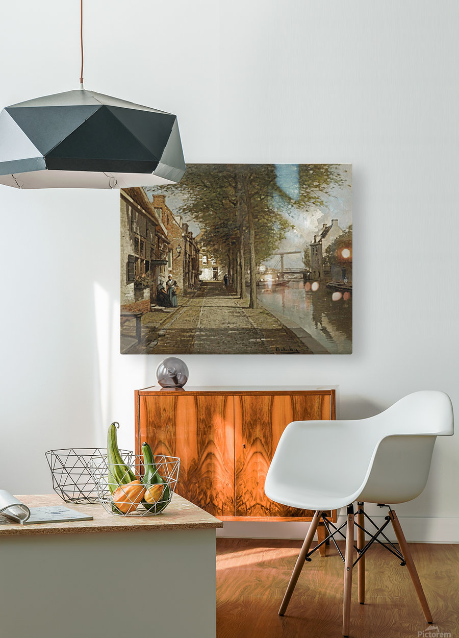 Grachtje te Oudewater  HD Metal print with Floating Frame on Back