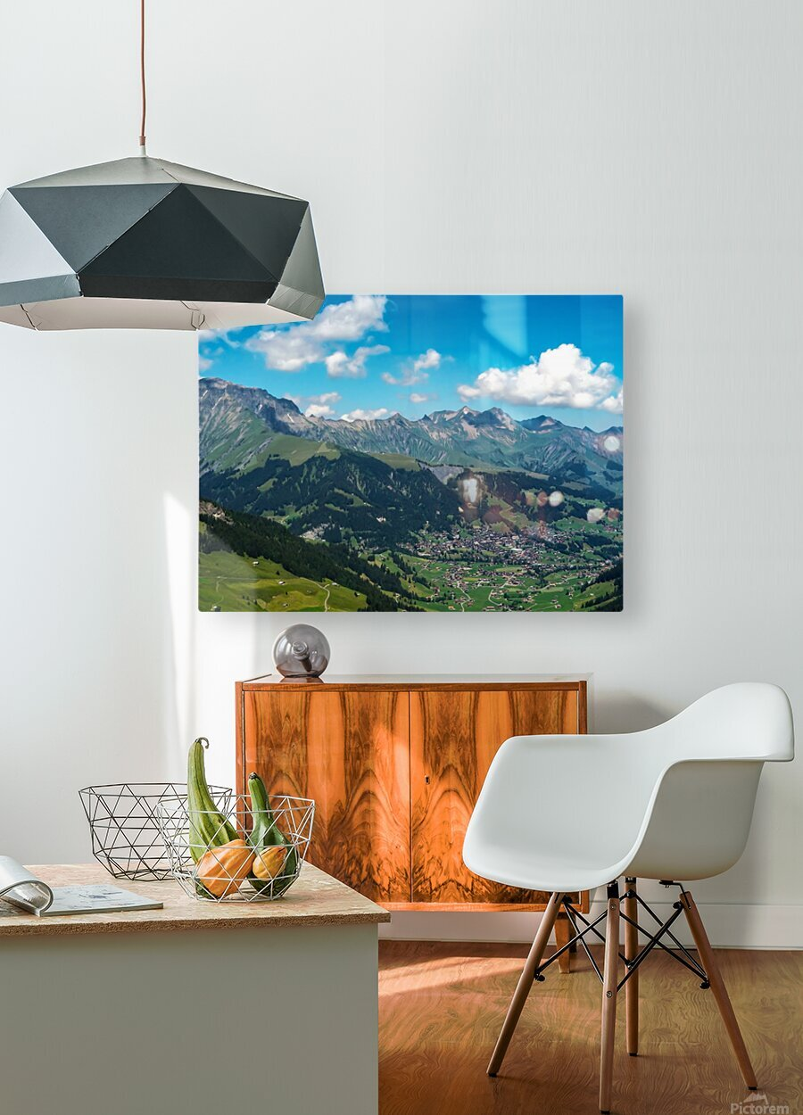 The Bernese Alps Switzerland  HD Metal print with Floating Frame on Back