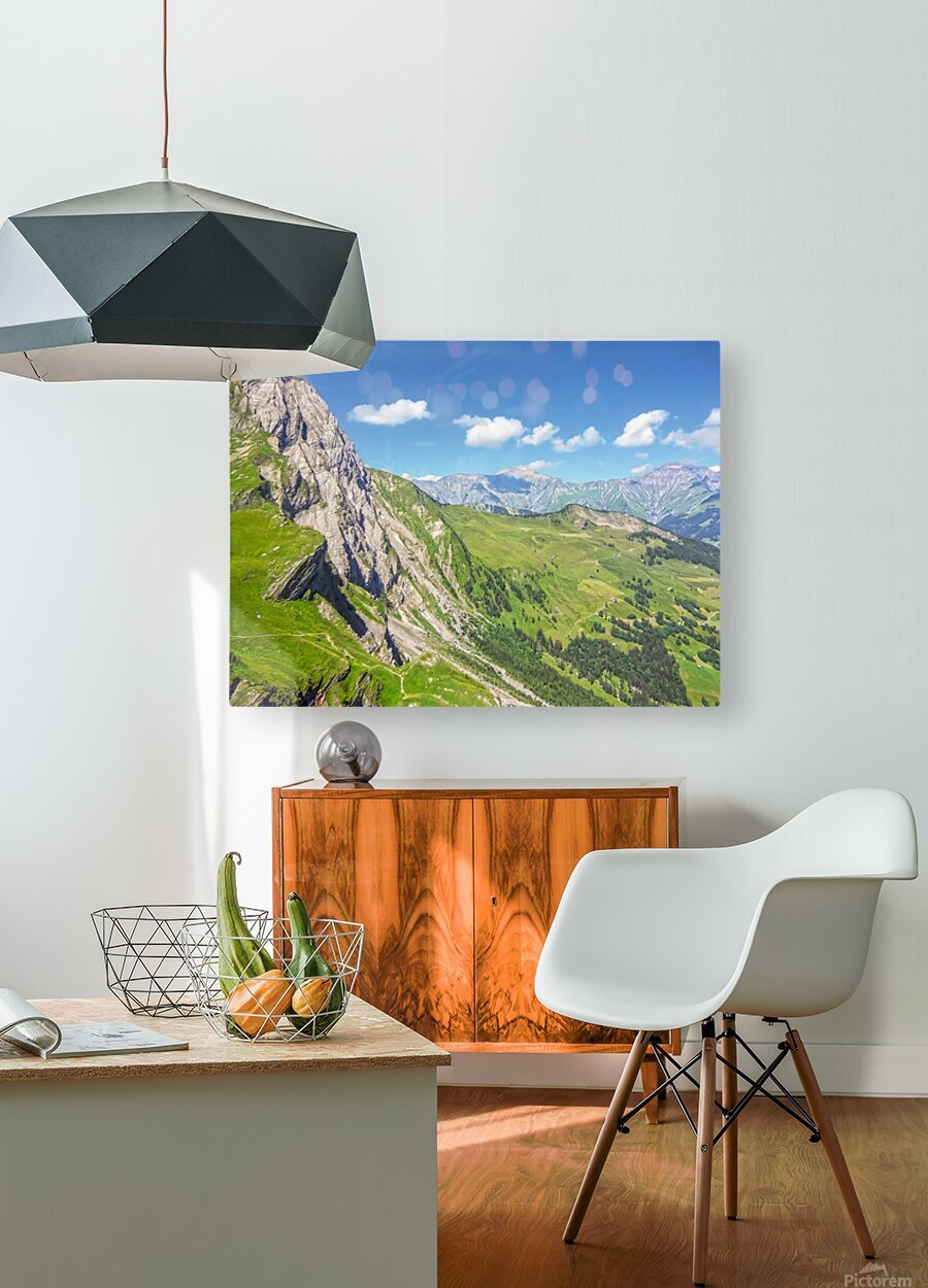 Deep in the Swiss Highlands  HD Metal print with Floating Frame on Back
