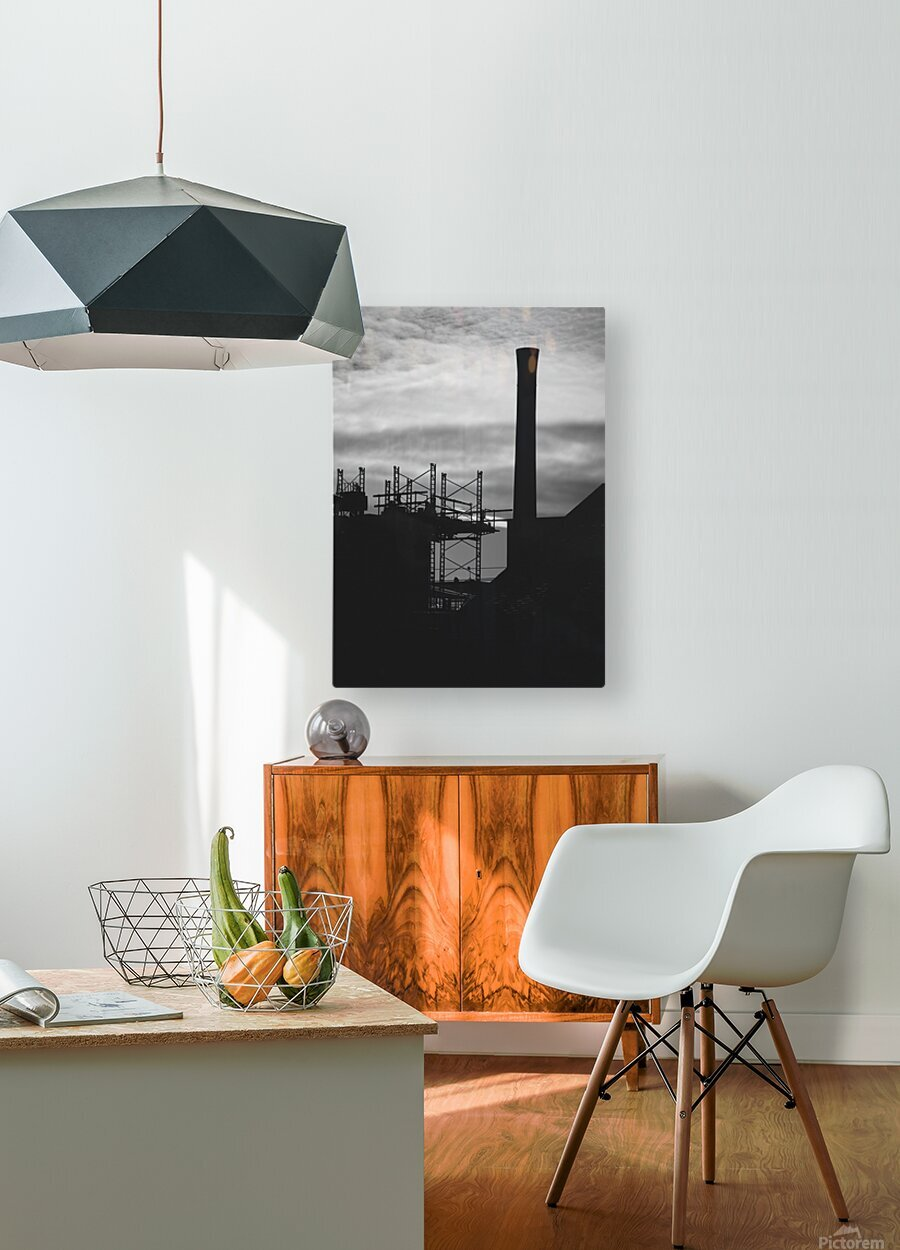 Smokestack Number Three  HD Metal print with Floating Frame on Back