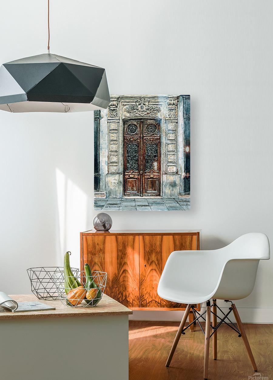 Parisian Door N0. 5-3  HD Metal print with Floating Frame on Back