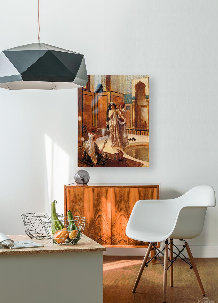 The harem bath  HD Metal print with Floating Frame on Back