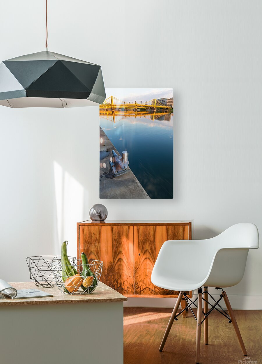 Barge Cleat ap 2877  HD Metal print with Floating Frame on Back