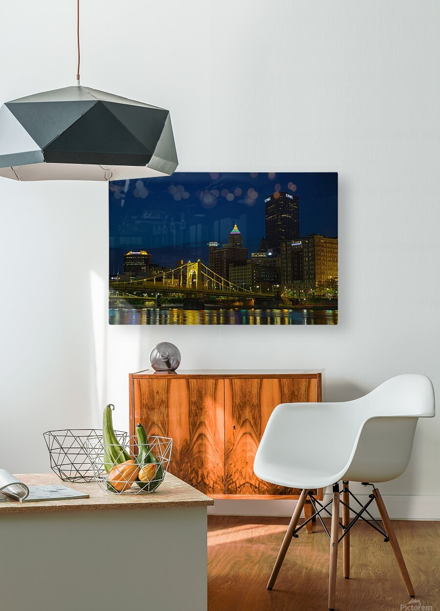 Roberto Clemente Bridge ap 2870  HD Metal print with Floating Frame on Back
