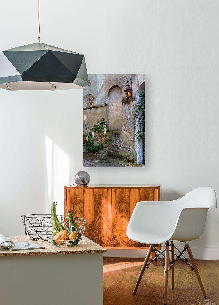 Stucco ap 2089  HD Metal print with Floating Frame on Back