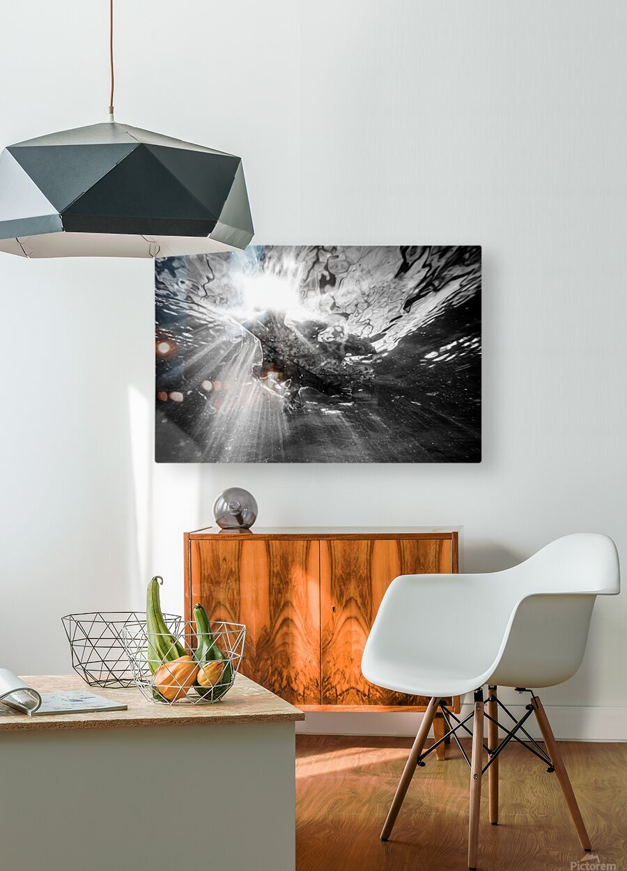Sunlight ap 2048 B&W  HD Metal print with Floating Frame on Back