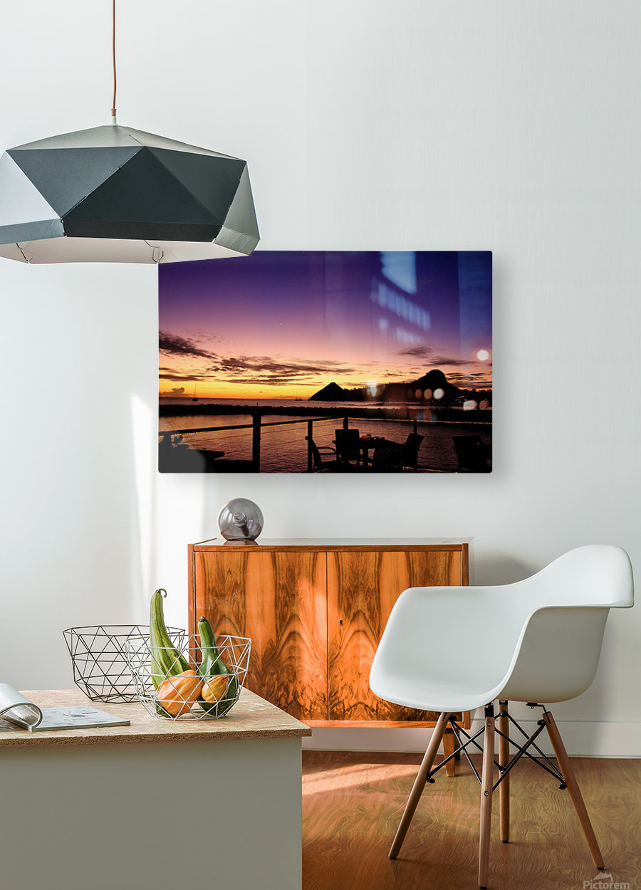 Sunset at The Landings  HD Metal print with Floating Frame on Back
