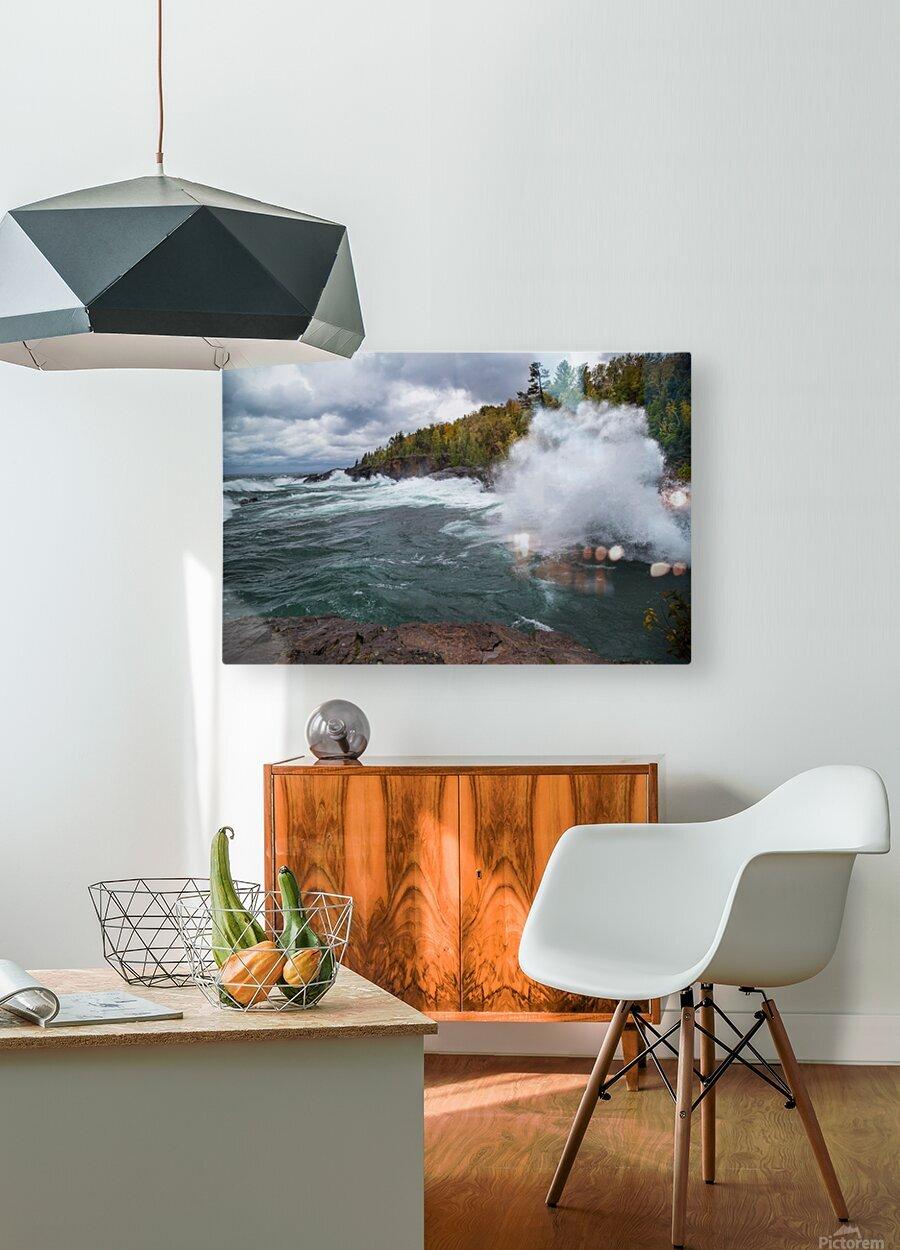 Splash 4 ap 2628  HD Metal print with Floating Frame on Back