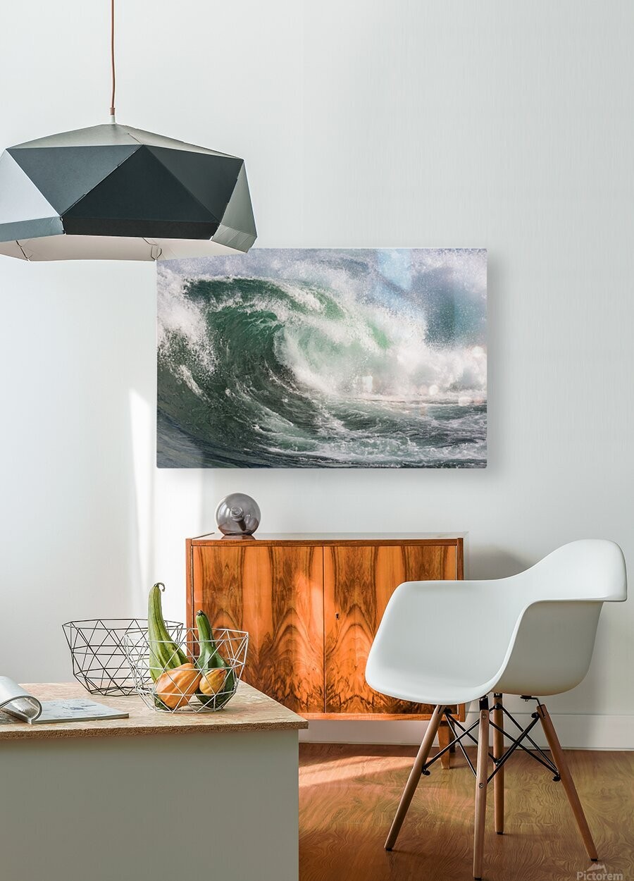 Wave Curl ap 2672  HD Metal print with Floating Frame on Back
